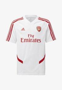 adidas Performance - ARSENAL TRAINING JERSEY - T-shirt imprimé - white/red - 0