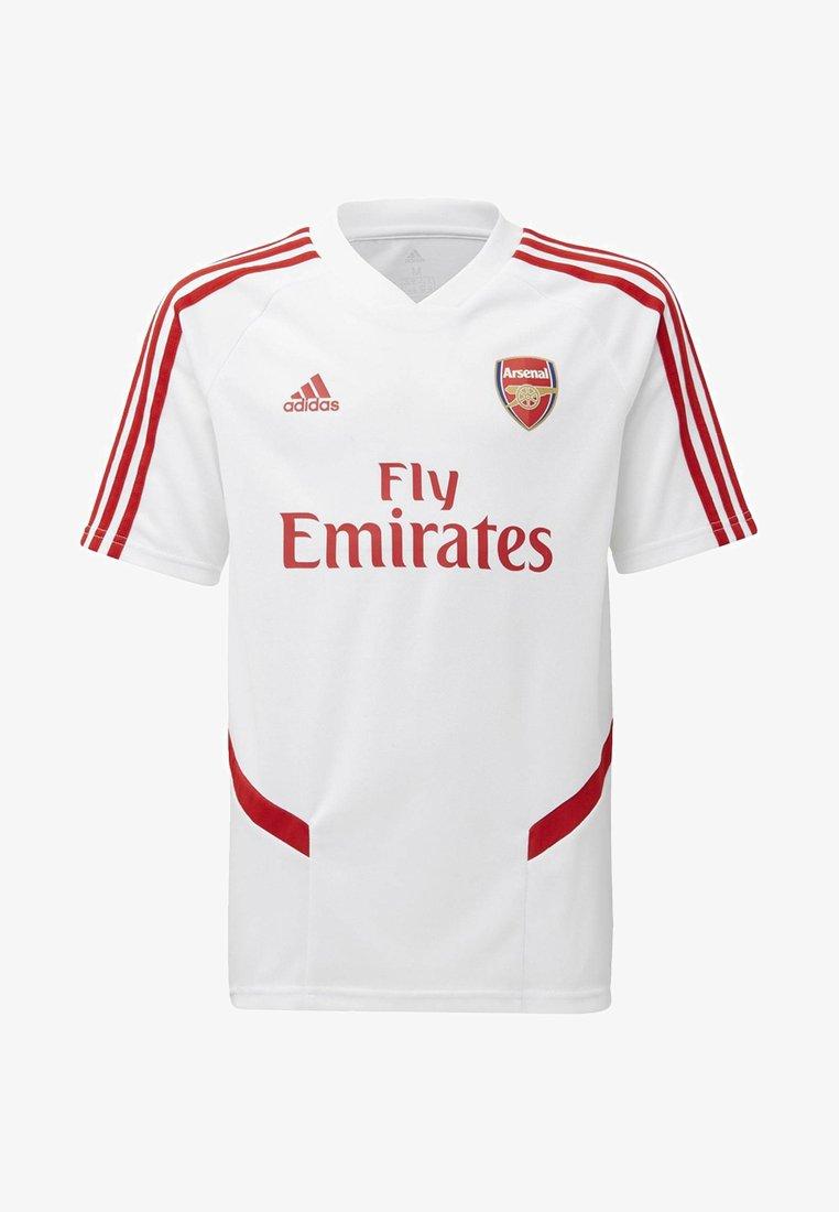 adidas Performance - ARSENAL TRAINING JERSEY - T-shirt imprimé - white/red