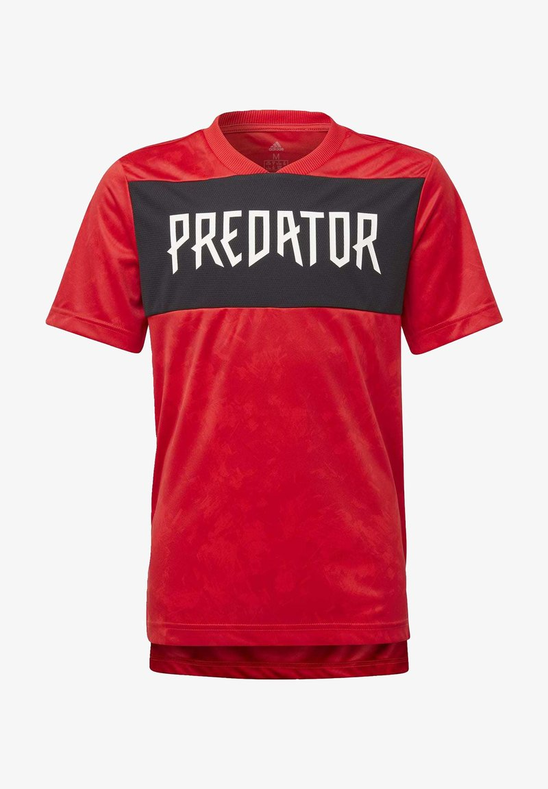 adidas Performance - PREDATOR ALLOVER PRINT JERSEY - Printtipaita - red