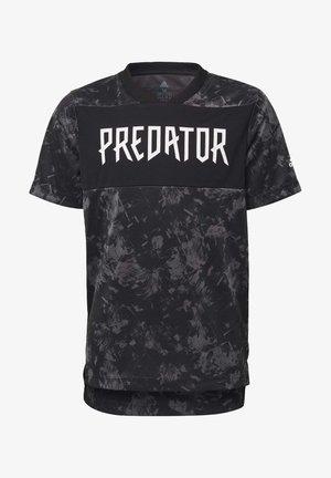 PREDATOR ALLOVER PRINT JERSEY - T-Shirt print - black