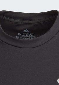 adidas Performance - ALPHASKIN T-SHIRT - T-shirt print - black - 2