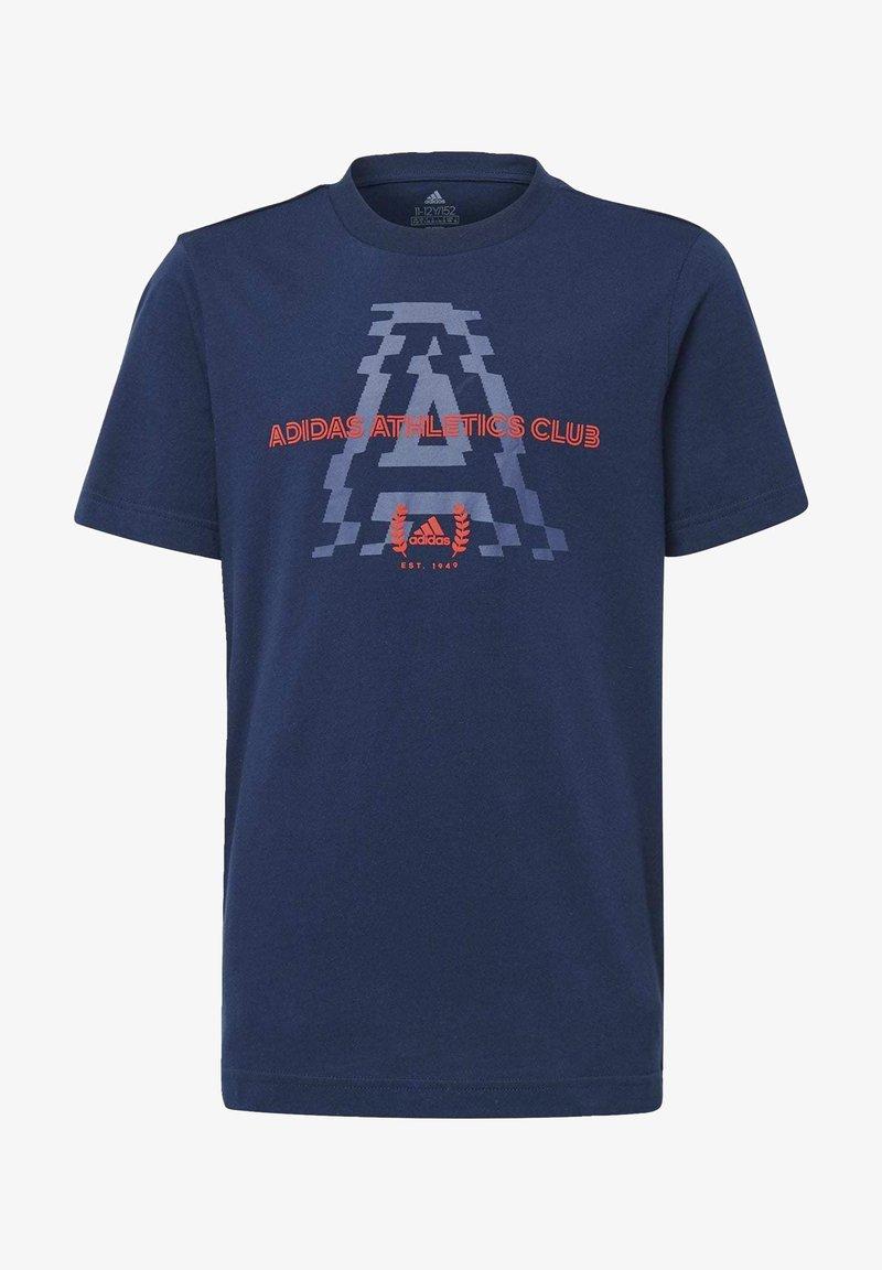 adidas Performance - ADIDAS ATHLETICS CLUB GRAPHIC T-SHIRT - T-shirt imprimé - blue