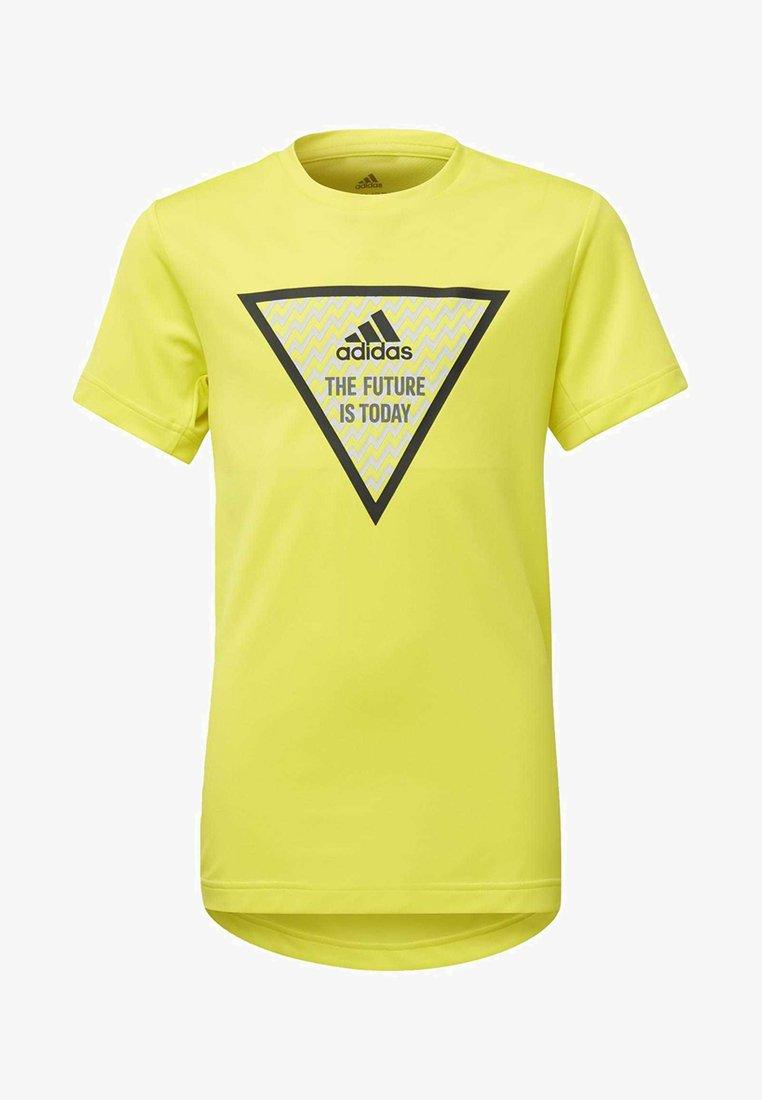 adidas Performance - XFG T-SHIRT - T-shirt con stampa - yellow