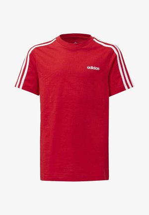 ESSENTIALS 3-STRIPES T-SHIRT - T-shirt con stampa - red/white