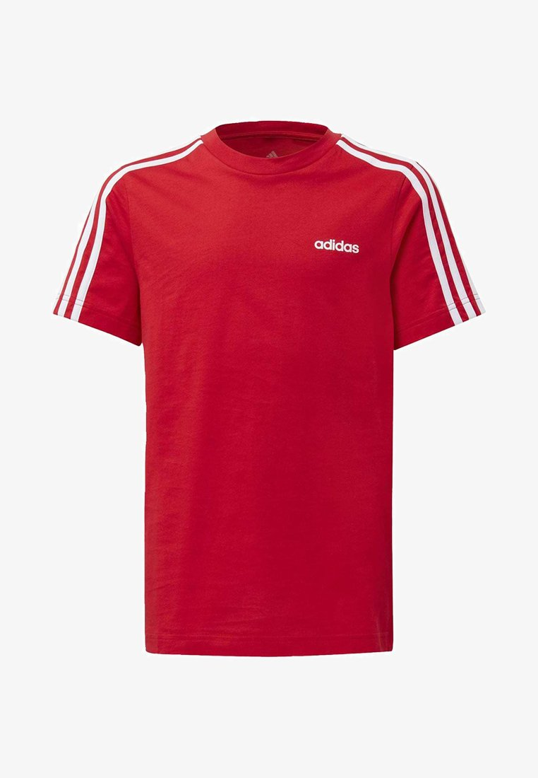 adidas Performance - ESSENTIALS 3-STRIPES T-SHIRT - T-shirt print - red/white