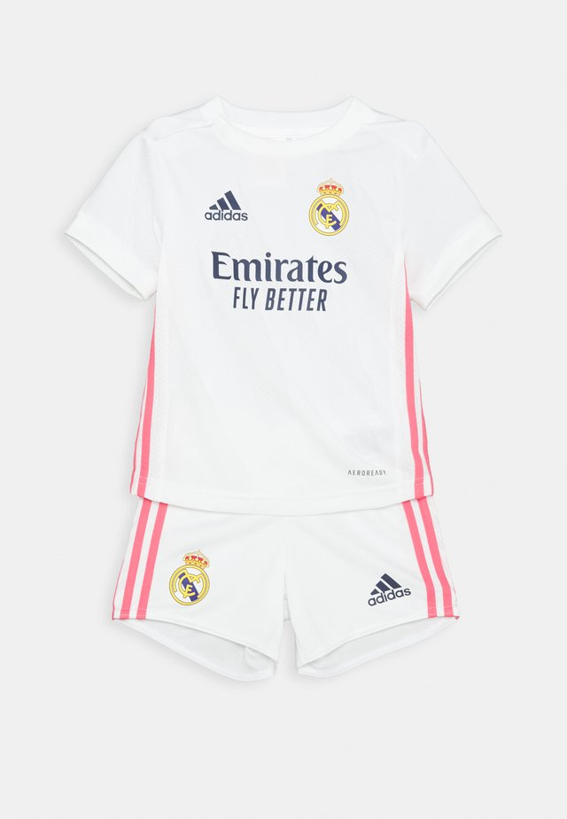 REAL MADRID AEROREADY SPORTS FOOTBALL MINIKIT SET UNISEX - Klubové oblečení - white