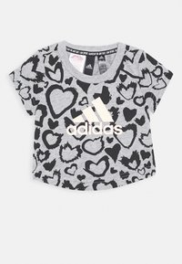 adidas Performance - TEE - T-shirt con stampa - mottled grey - 0