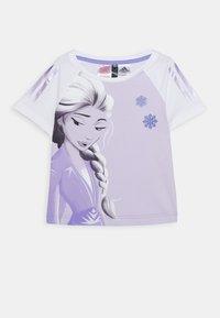 adidas Performance - TEE - T-shirt print - white/light purple - 0