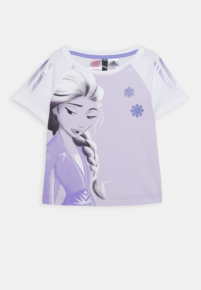 TEE - T-shirts med print - white/light purple