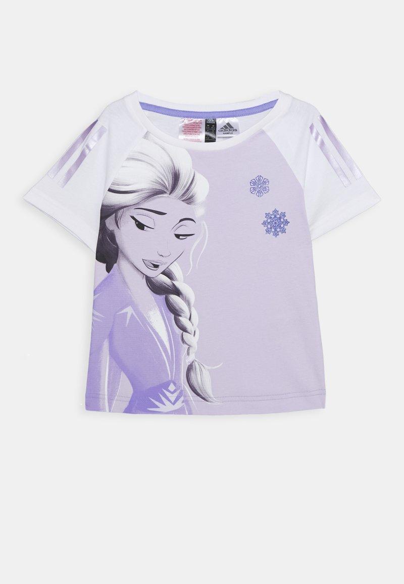adidas Performance - TEE - T-shirt print - white/light purple