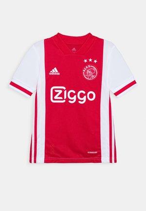 AJAX AMSTERDAM AEROREADY FOOTBALL - Klubové oblečení - white/bolred