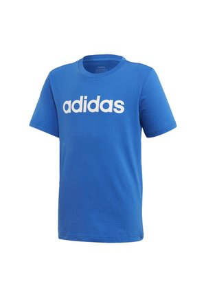 ESSENTIALS LINEAR LOGO T-SHIRT - T-shirt print - blue