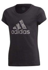 adidas Performance - BADGE OF SPORT T-SHIRT - T-shirt con stampa - black - 0