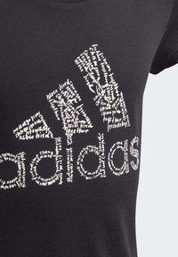 adidas Performance - BADGE OF SPORT T-SHIRT - T-shirt con stampa - black - 3
