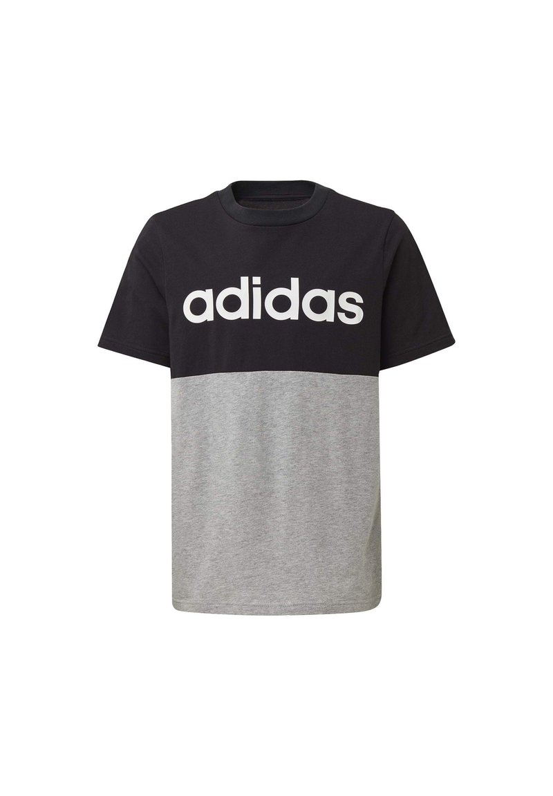 adidas Performance - LINEAR COLORBLOCK T-SHIRT - Print T-shirt - black