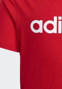 adidas Performance - ESSENTIALS LINEAR LOGO T-SHIRT - T-shirt imprimé - red - 3