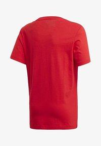 adidas Performance - ESSENTIALS LINEAR LOGO T-SHIRT - T-shirt imprimé - red - 1