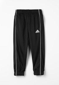 adidas Performance - CORE ELEVEN FOOTBALL PANTS - Teplákové kalhoty - black/white - 0