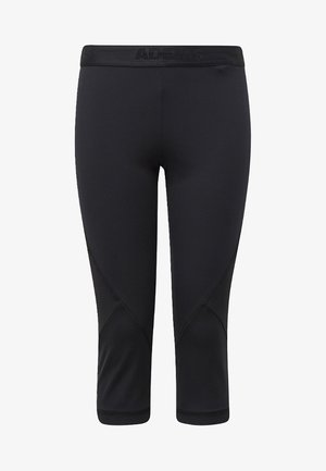 ALPHASKIN SPORT 3/4 LEGGINGS - 3/4 sports trousers - black