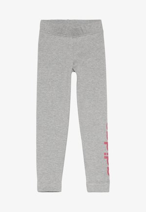Tights - mid grey heather/real pink