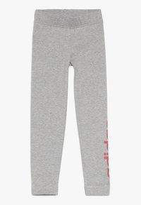 adidas Performance - Leggings - mid grey heather/real pink - 0