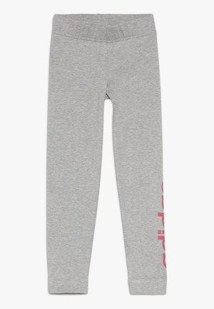 Leggings - mid grey heather/real pink