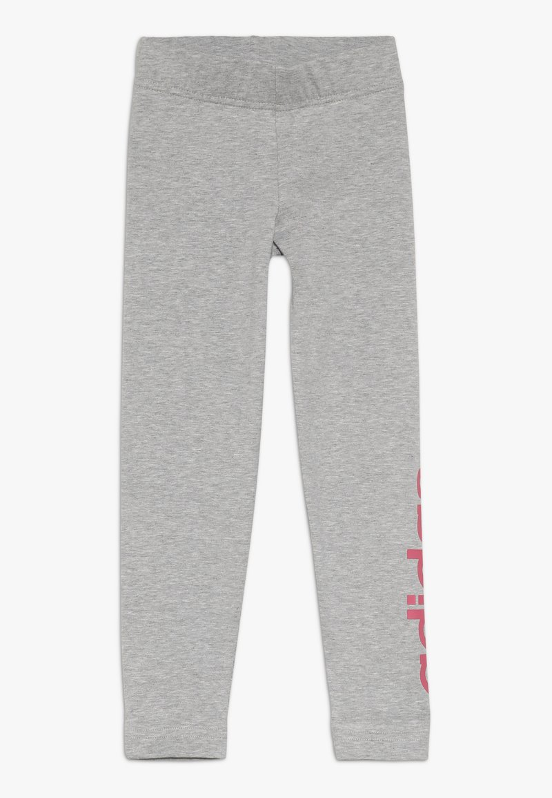 adidas Performance - Leggings - mid grey heather/real pink