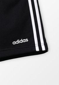 adidas Performance - BOYS ESSENTIALS 3STRIPES SPORT 1/4 SHORTS - Sports shorts - black/white - 4