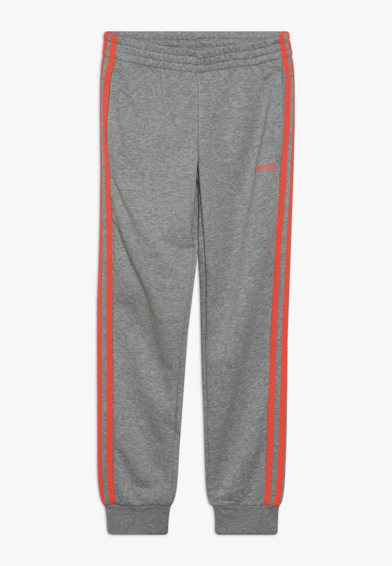 adidas Performance - 3S PANT - Teplákové kalhoty - medium grey heather/coral