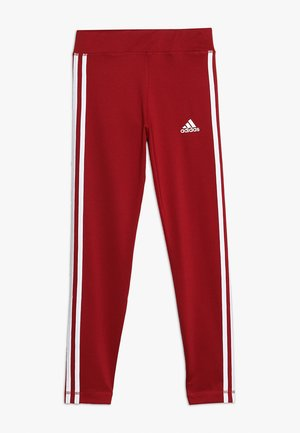 TRAINING EQUIPMENT 3 STREIFEN - Legging - maroon/white