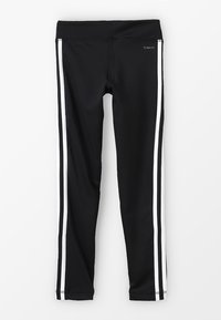 adidas Performance - TRAINING EQUIPMENT 3 STREIFEN - Legging - black/white - 1