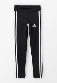 adidas Performance - TRAINING EQUIPMENT 3 STREIFEN - Tights - black/white - 0
