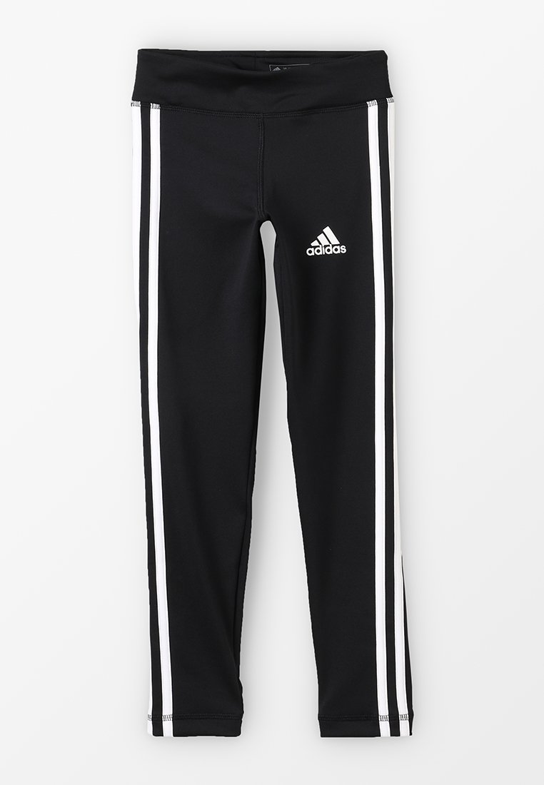 adidas Performance - TRAINING EQUIPMENT 3 STREIFEN - Legging - black/white