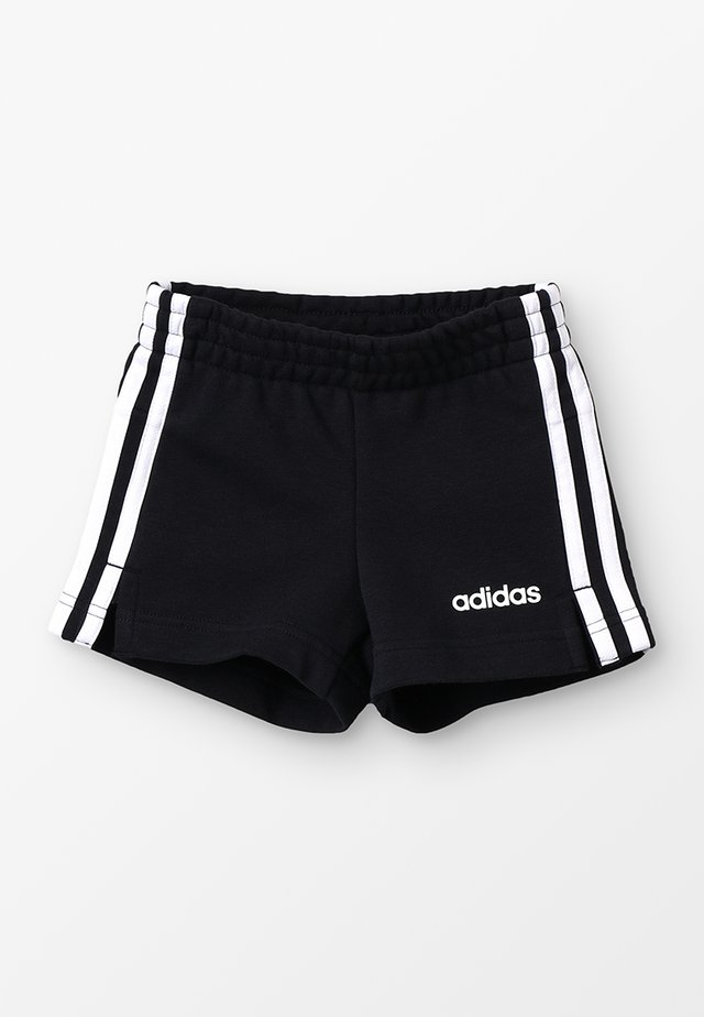 GIRLS ESSENTIALS 3STRIPES SPORT 1/4 SHORTS - Pantalón corto de deporte - black/white