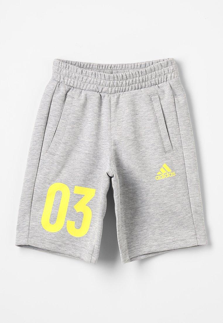 adidas Performance - Korte broeken - medium grey heather/shock yellow