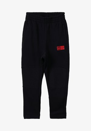 PANT - Tracksuit bottoms - black/action red