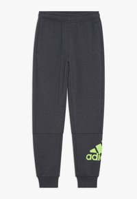 adidas Performance - Tracksuit bottoms - mottled dark grey - 0