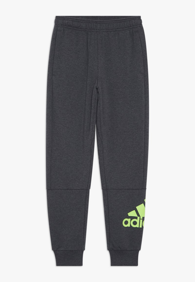 adidas Performance - Tracksuit bottoms - mottled dark grey