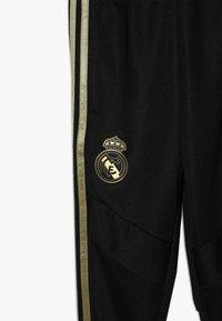 adidas Performance - REAL MADRID - Klubové oblečení - black/dark gold - 2