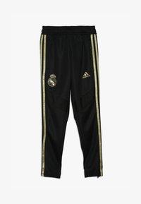 adidas Performance - REAL MADRID - Klubové oblečení - black/dark gold - 3