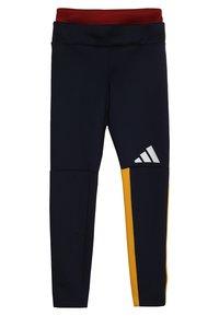 adidas Performance - TIGHT - Leggings - dark blue/yellow - 3