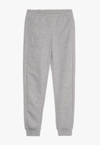 adidas Performance - YOUNG GIRLS ESSENTIALS LINEAR SPORT PANTS - Teplákové kalhoty - medium grey heather/real pink - 0