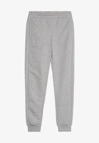 adidas Performance - YOUNG GIRLS ESSENTIALS LINEAR SPORT PANTS - Teplákové kalhoty - medium grey heather/real pink - 3