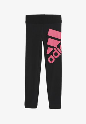 Tights - black/real pink