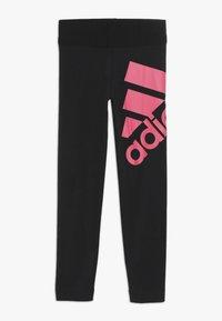 adidas Performance - Leggings - black/real pink - 0