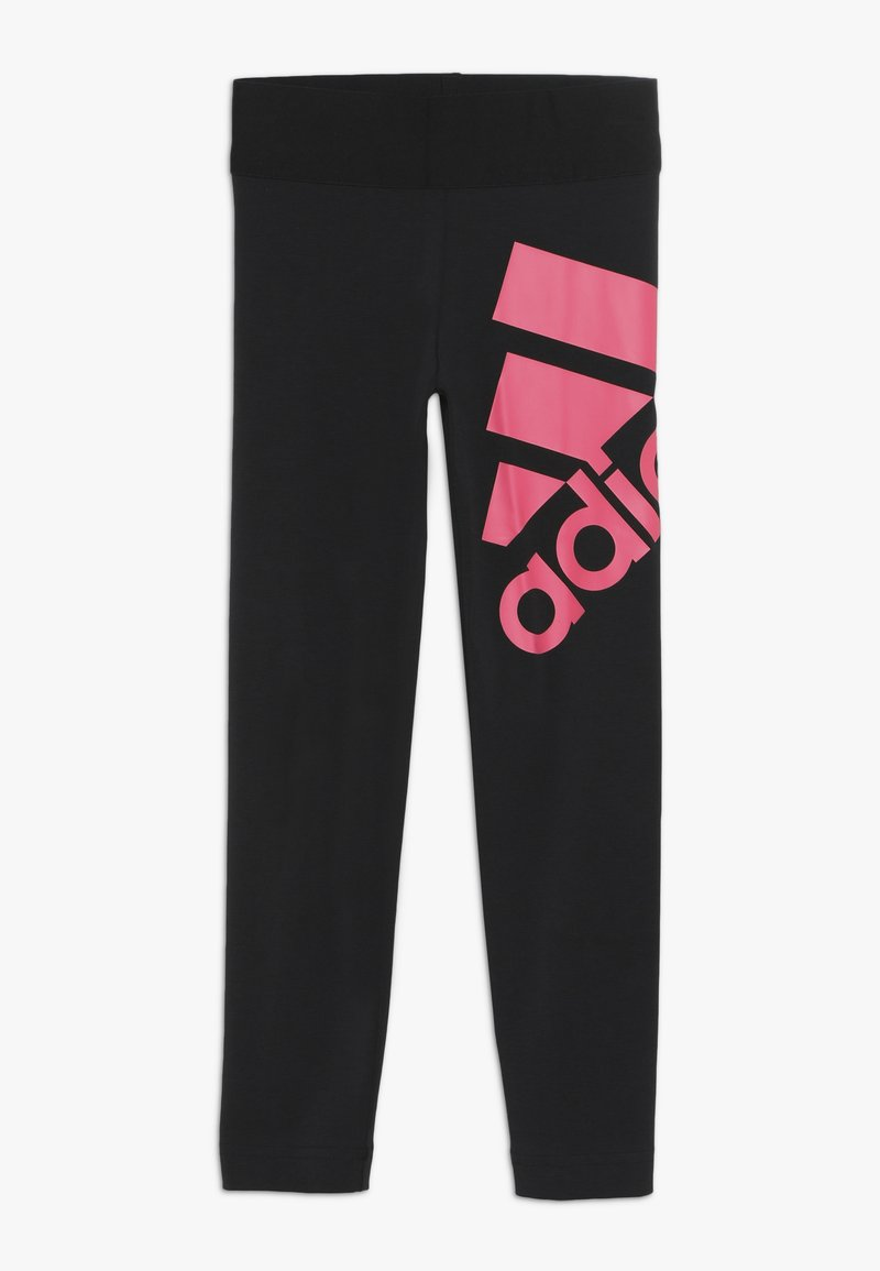 adidas Performance - Leggings - black/real pink