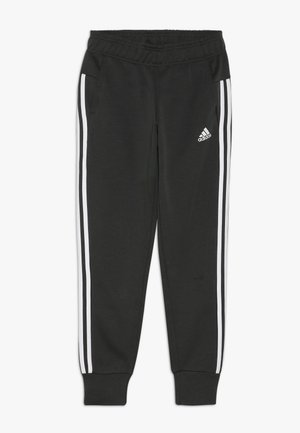 Tracksuit bottoms - dark green/white