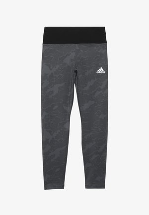 WARM - Legging - grey/black