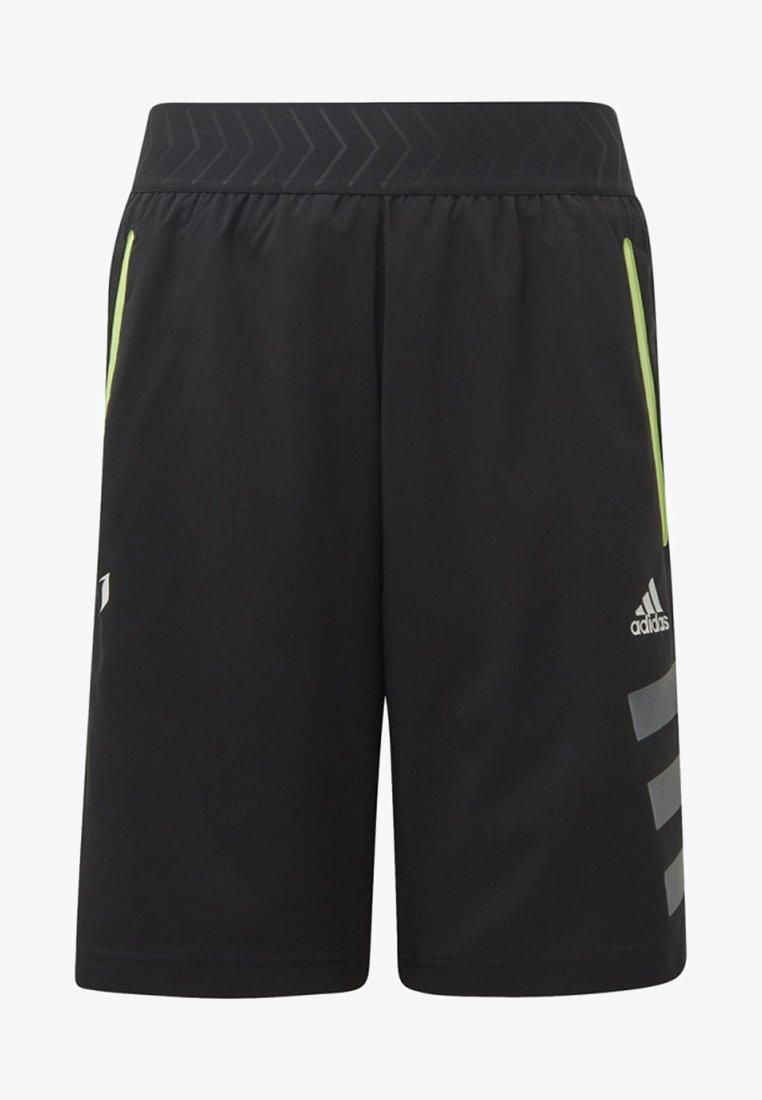 adidas Performance - MESSI SHORTS - kurze Sporthose - black/yellow