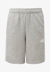 adidas Performance - MUST HAVES 3-STRIPES SHORTS - Sports shorts - grey - 0